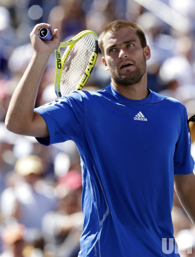 Mikhail Youzhny at the U.S. Open Tennis Championships in New York
