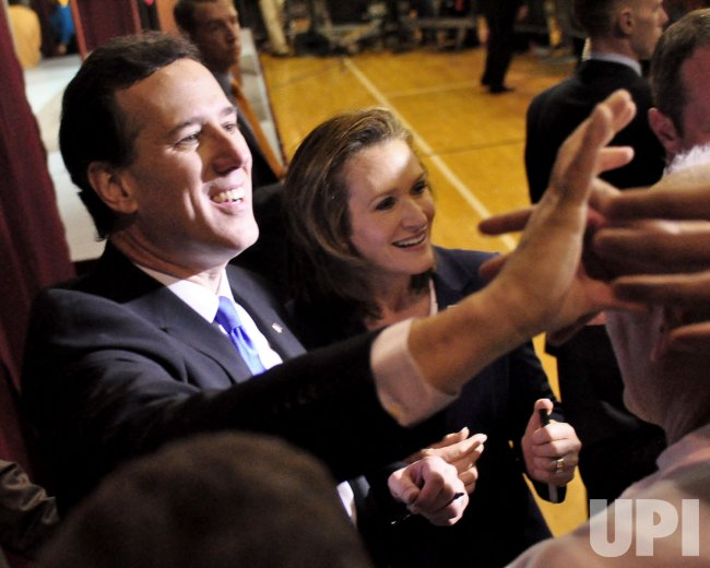 Rick Santorum Super Tuesday Election Night Party in Steubenville, Ohio