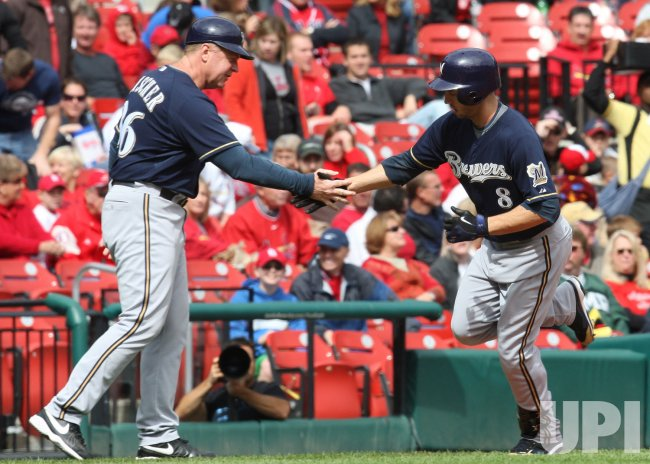 Milwaukee Brewers Ryan Braun hits two run home run