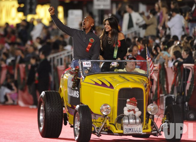 Talk show host Montel Williams rides in the Hollywood Christmas Parade in Los Angeles