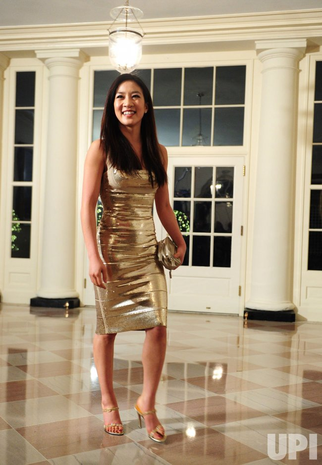 Olympian Michelle Kwan arrives for the State Dinner for President Hu Jintao of China in Washington