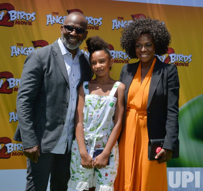 """Genesis Tennon and Viola Davis attend """"The Angry Birds Movie 2"""" premiere in Los Angeles."""