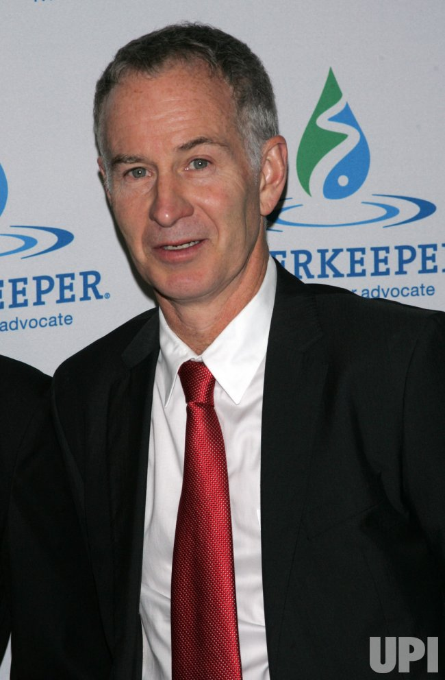 John McEnroe arrives for the Riverkeeper's Fishermen's Ball in New York