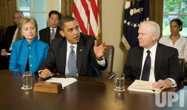 US President Barack Obama speaks on swine flu in Washington