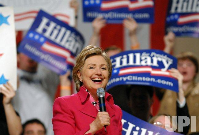 Democratic Presidential candidate Sen. Hillary Clinton speaks at fundraiser in Washington