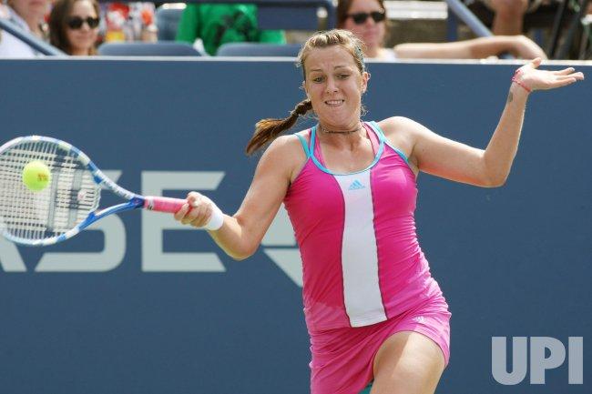 Jelena Jankovic and Anastasia Pavlyuchenkova compete third-round action at the U.S. Open in New York