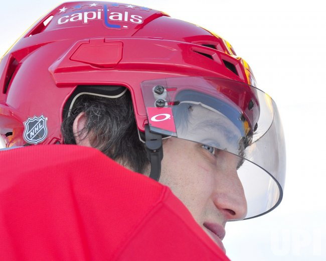 Alex Ovechkin at Bridgestone Winter Classic in Pittsburgh