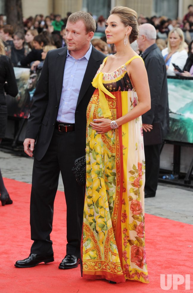 "Guy Ritchie and Jacqui Ainsley attend ""Harry Potter And The Deathly Hallows Part 2"" world premiere in London"