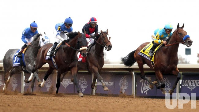 American Pharoah Leads The Breeders Cup Classic After The