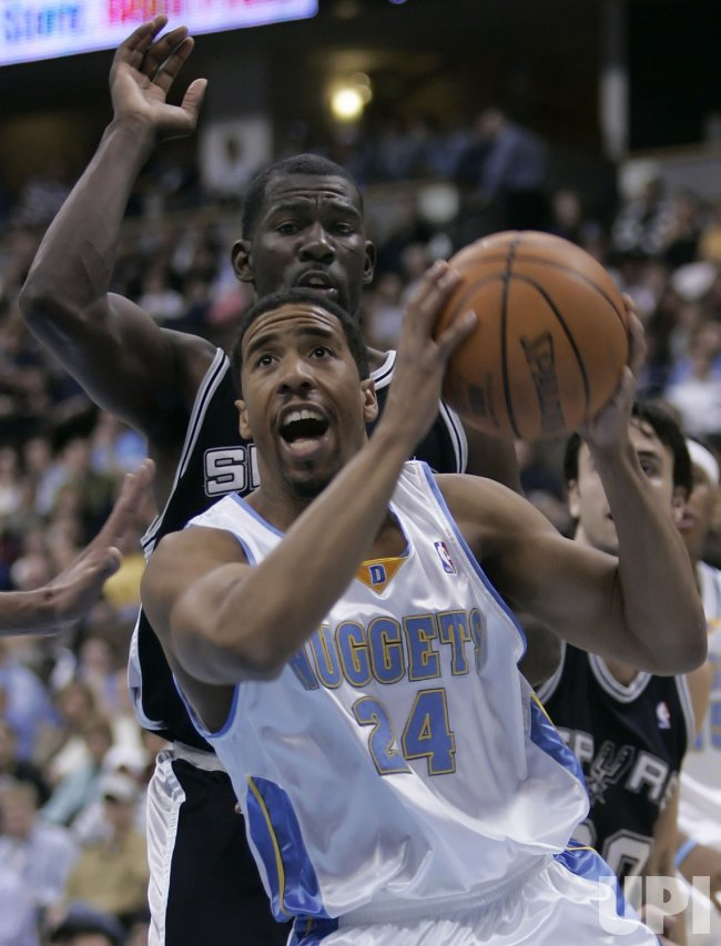NBA SAN ANTONIO SPURS AT DENVER NUGGETS