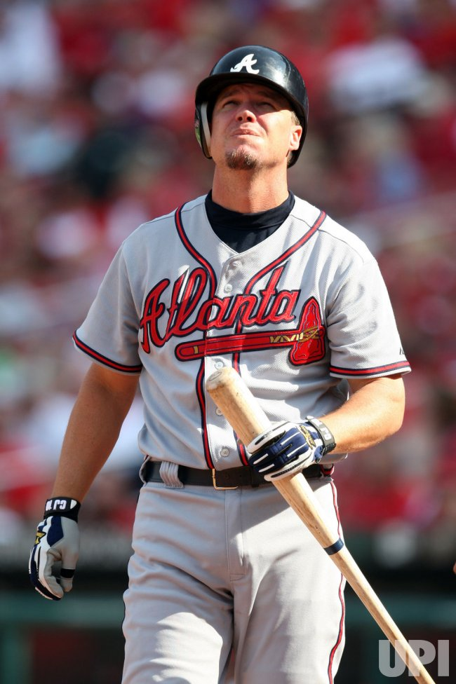 Atlanta Braves Chipper Jones bats