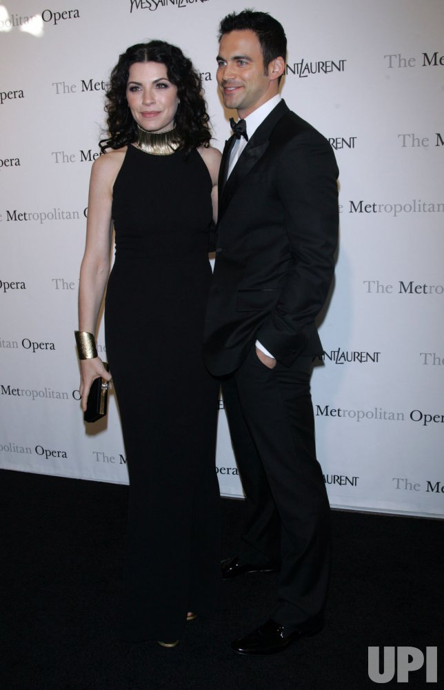 "Julianna Margulies arrives for the Metropolitan Opera's Premiere of ""Le Comte Ory"" in New York"