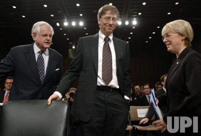BILL GATES TESTIFIES ON CAPITOL HILL IN WASHINGTON