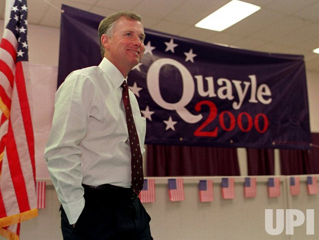 Republican presidential candidate and former Vice President Dan Quayle
