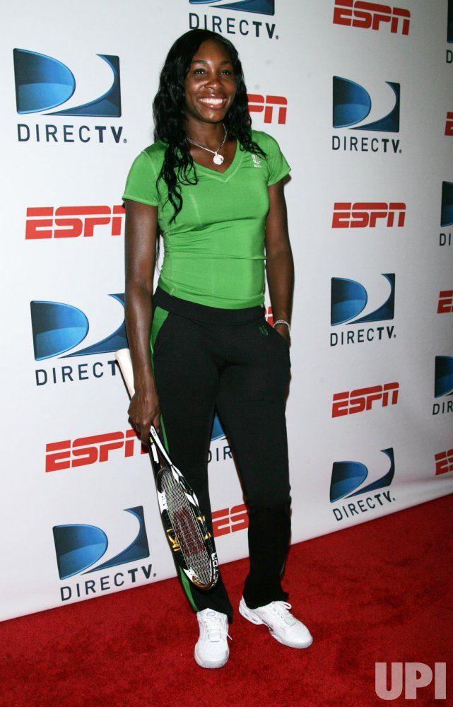 Venus Williams arrives at the DIRECTV and ESPN US Open Experience at Bryant Park in New York