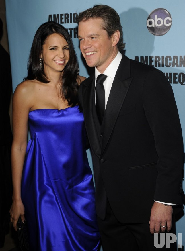 Luciana Barroso and Matt Damon attend the 24th annual American Cinematheque Award Ceremony in Beverly Hills, California