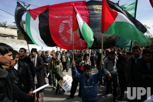 Rally Calling for Reconciliation Between Hamas and Fatah in Gaza