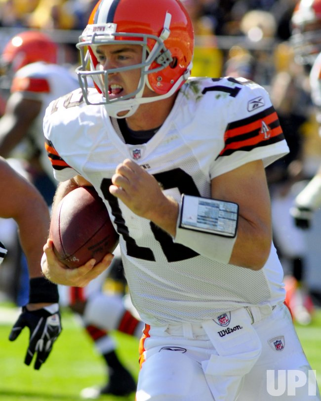 Cleveland Browns quarterback Colt Browns Colt McCoy Runs and Gains Five yards in Pittsburgh