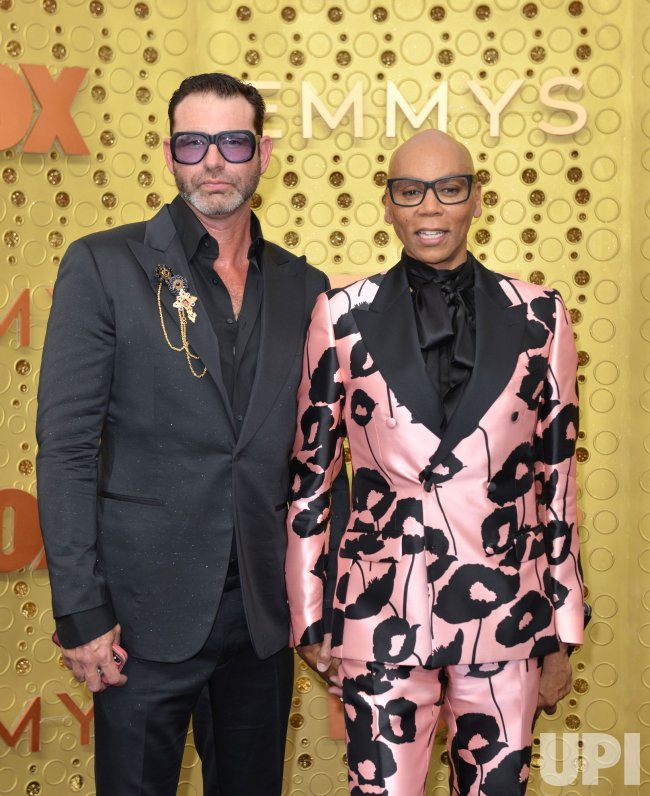 Georges LeBar and RuPaul attend Primetime Emmy Awards in Los Angeles