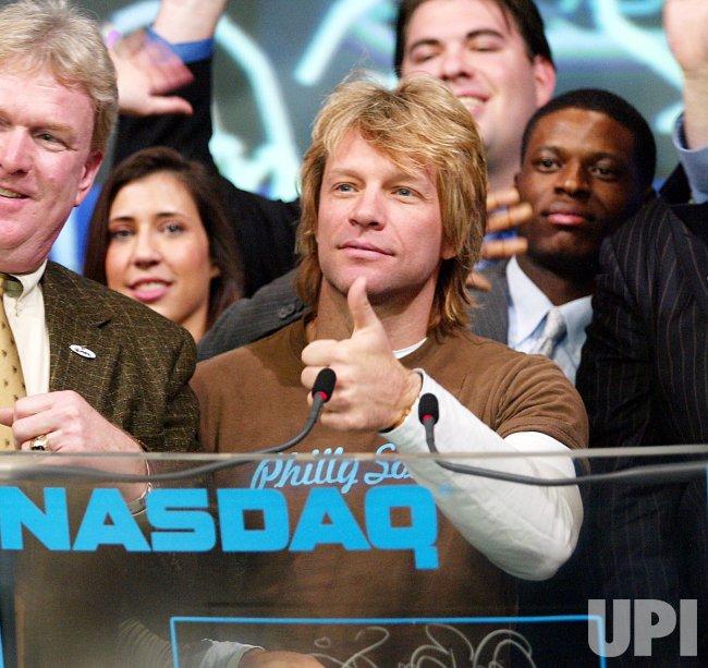 JON BON JOVI AT NASDAQ