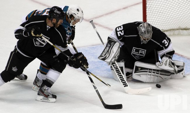 Los Angeles Kings vs. San Jose Sharks Game 1 NHL Western Conference Semi-finals Playoffs in Los Angeles