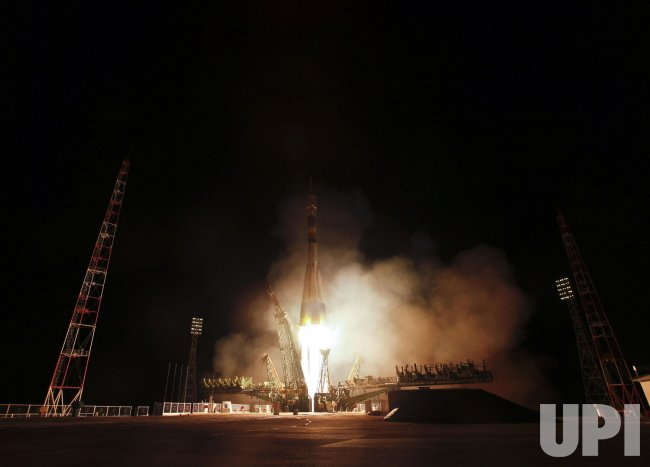 Soyuz TMA-21 launched from the Baikonur Cosmodrome in Kazakhstan