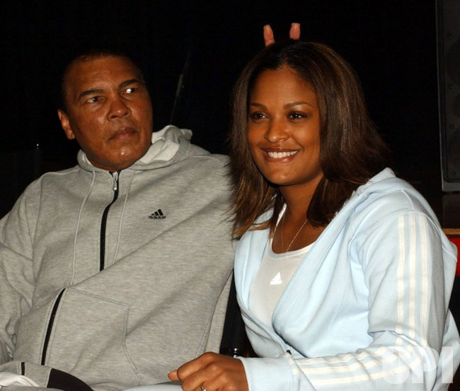 MUHAMMAD ALI AND DAUGHTER LAILA LAUNCH AD CAMPAIGN