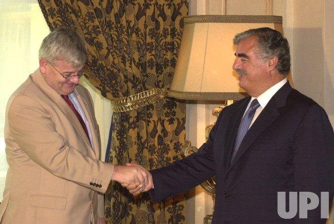 LEBANESE PM MEETS GERMAN COUNTERPART