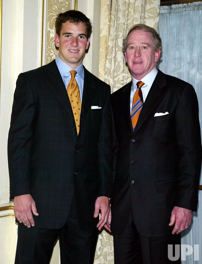 ARCHIE AND ELI MANNING HONORED BY POLICE ATHLETIC LEAGUE