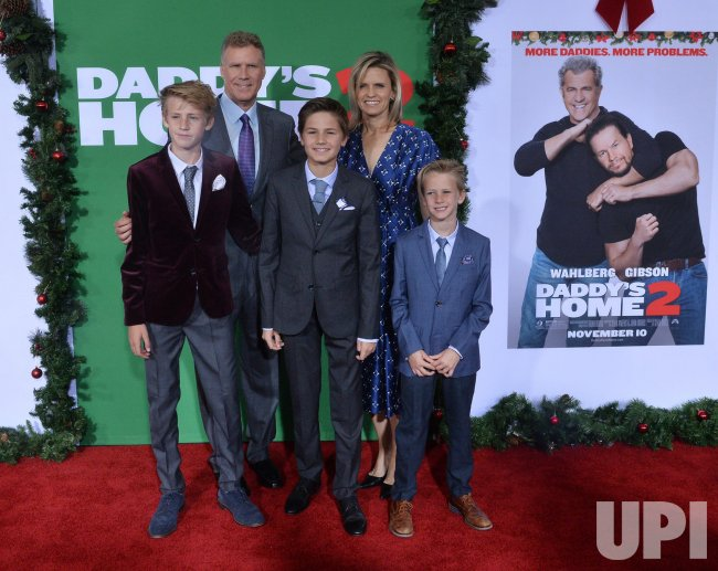 """Will Ferrell and family attend the """"Daddy's Home 2"""" premiere in Los Angeles"""
