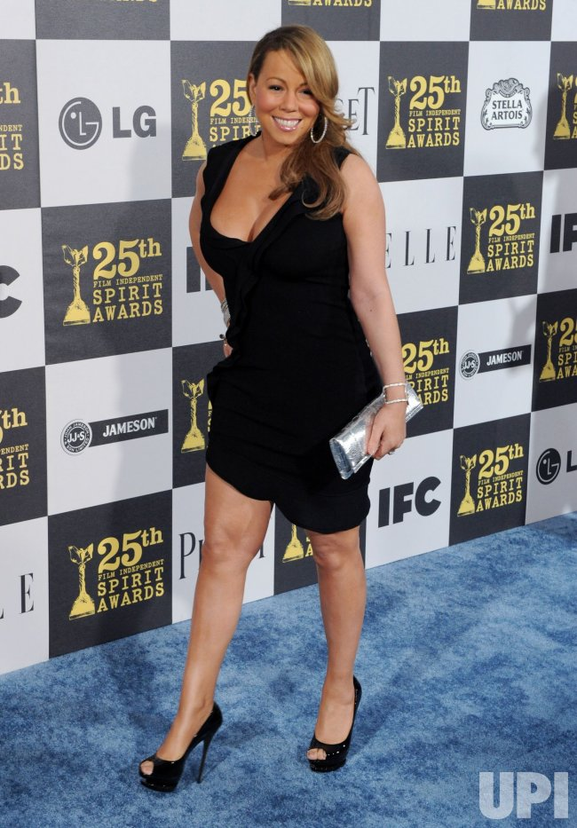 Mariah Carey attends the 25th annual Film Independent Spirit Awards in Los Angeles
