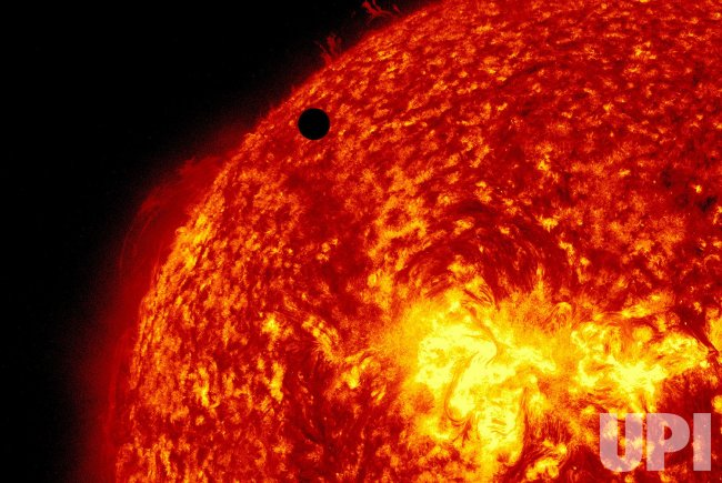 Venus Begins Transit of the Sun