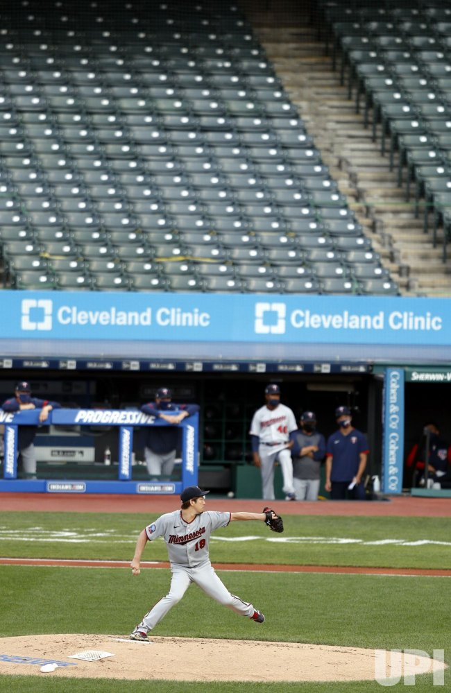 Minnesota Twins vs Cleveland Indians Game in Cleveland
