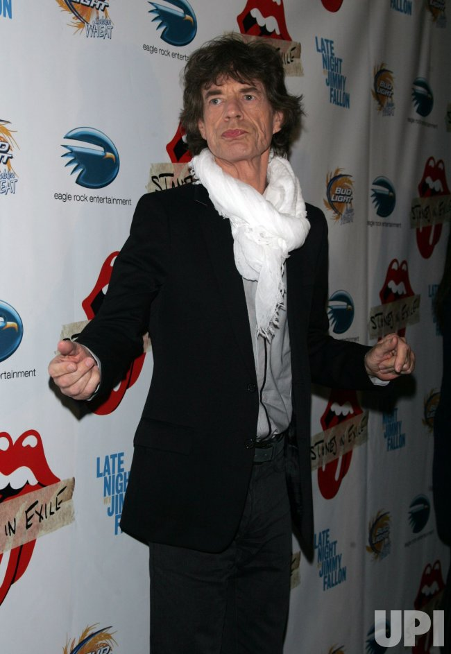 "Mick Jagger arrives for the ""Stones in Exile"" Special Screening in New York"