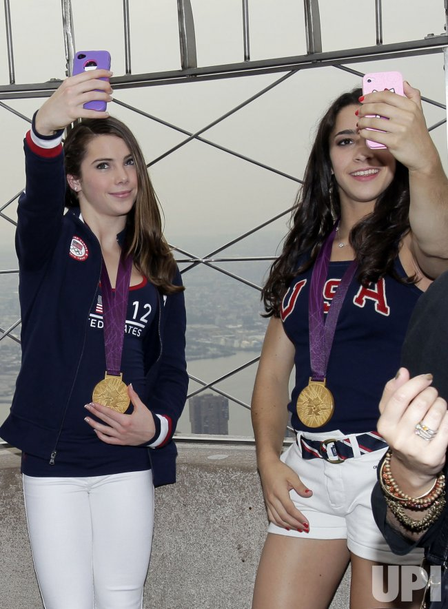 U.S. Women's Gymnastics Team at the Empire State Building