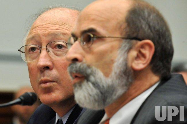 Interior Secretary Ken Salazar and Michael Bromwich testify on offshore oil drilling in Washington