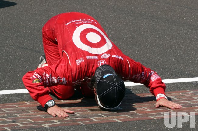 Franchitti Celebrates Win