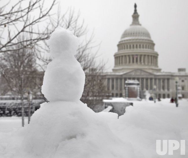 Washington hit by historic snow storm.