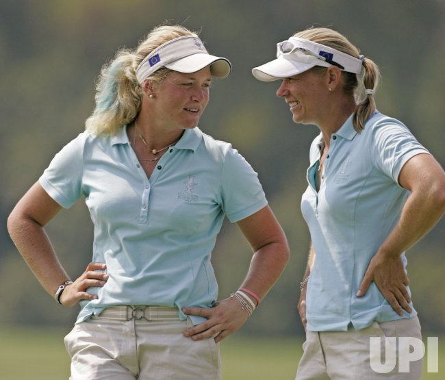 SORENSTAM AND PETTERSEN TALK AT SOLHEIM CUP
