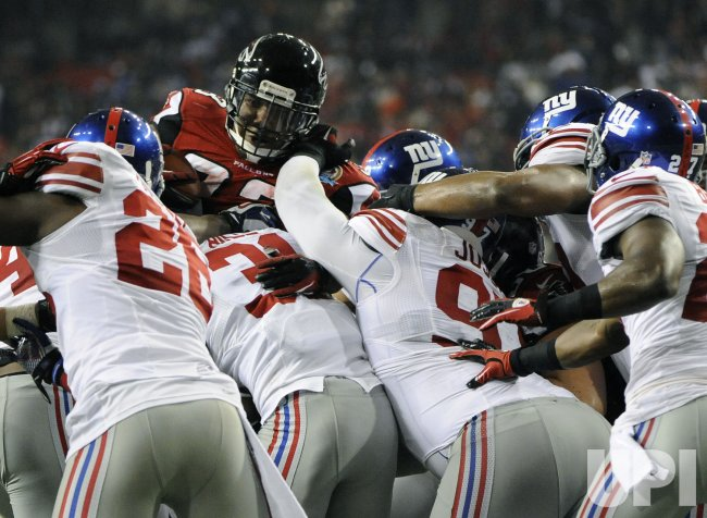 The Atlanta Falcons play the New York Giants in Atlanta