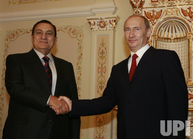 Russian President Putin meets with Egyptian President Mubarak in Moscow