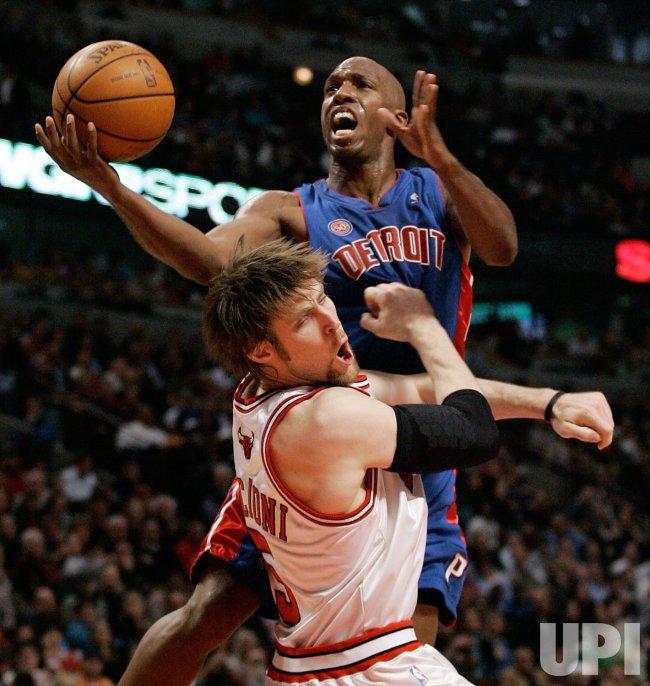NBA Basketball Detroit Pistons vs Chicago Bulls