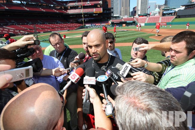 St. Louis Cardinals Albert Pujols ready for action