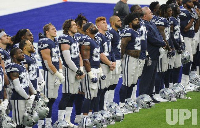 Cowboys Watch a Black Lives Matter Dedication Song After Warm Ups
