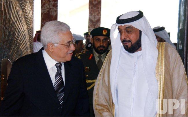 PALESTINIAN PRESIDENT MEETS UAE PRESIDENT