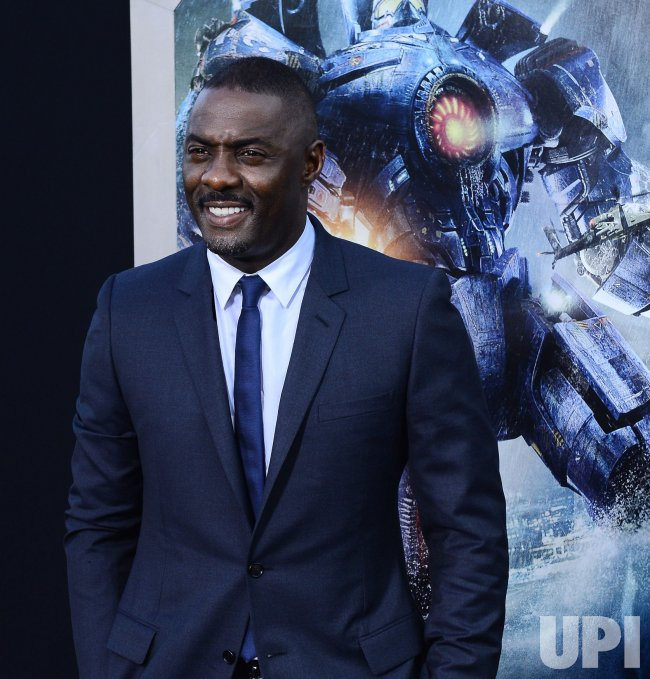 "Idris Elba attends the ""Pacific Rim"" premiere in Los Angeles"