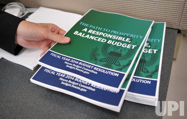 The Hosue Budget Committee releases it's FY2014 Budget in Washington