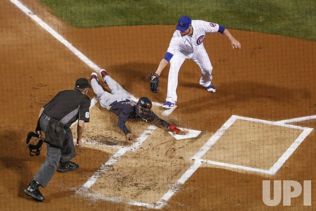 Chicago Cubs vs Cleveland Indians at Wrigley Field in Chicago