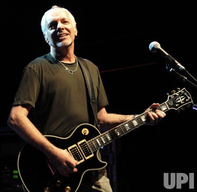 Peter Frampton performs in London