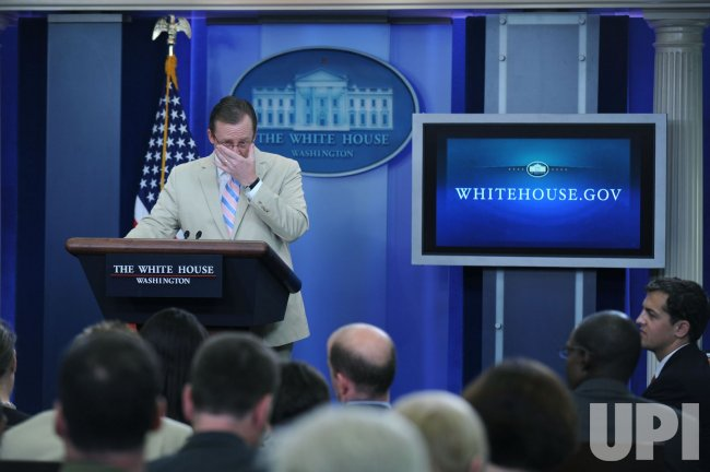 Robert Gibbs delivers the daily press briefing in Washington
